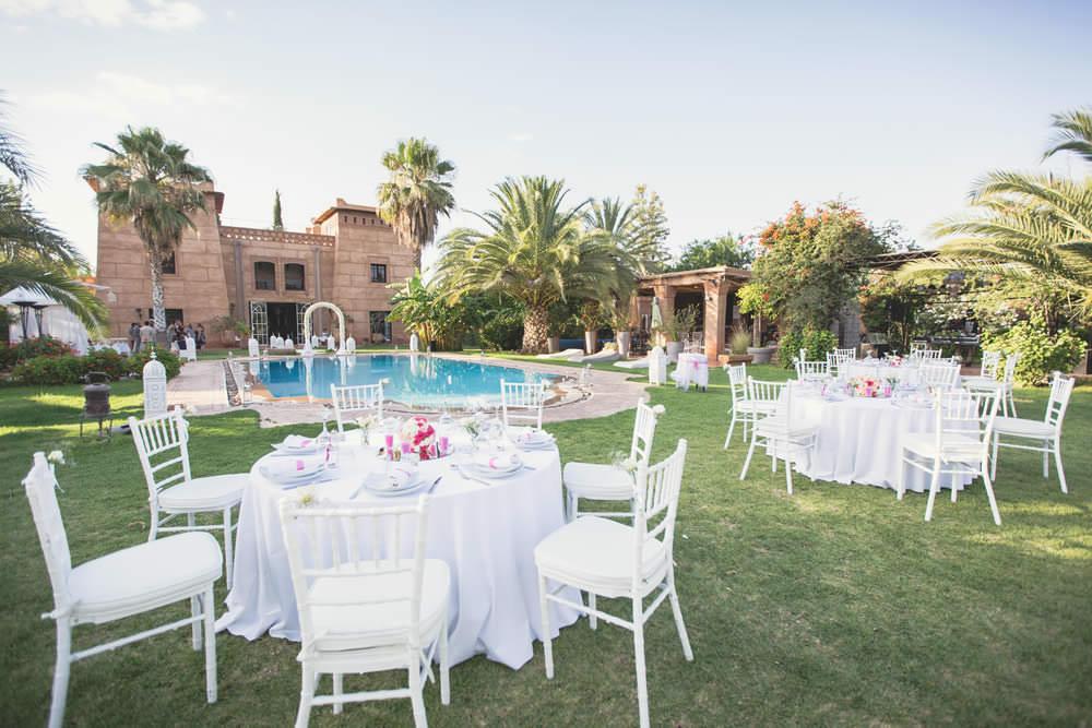 Mariage dans une villa à Marrakech