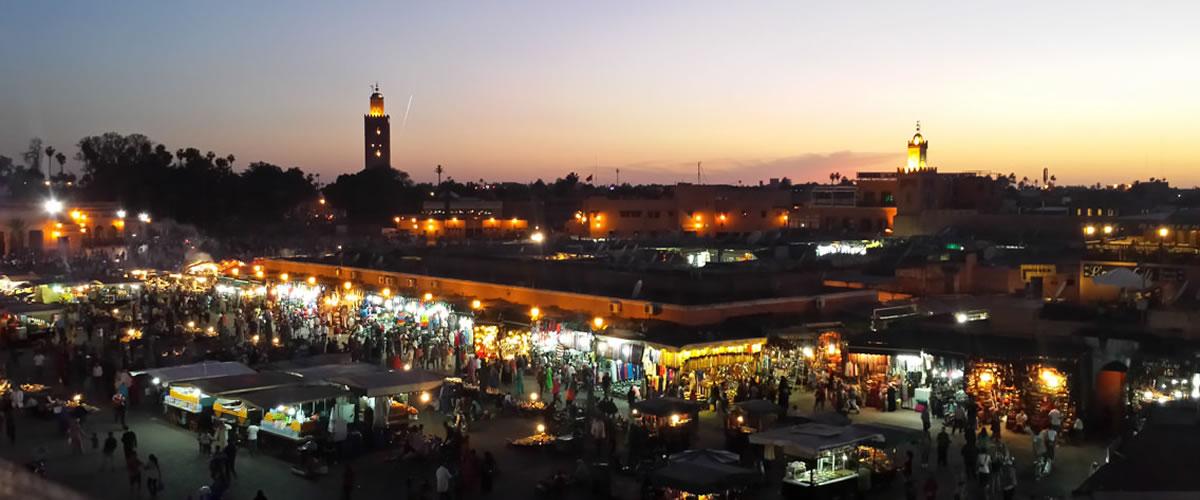 Place Jemaa Elfna à Marrakech